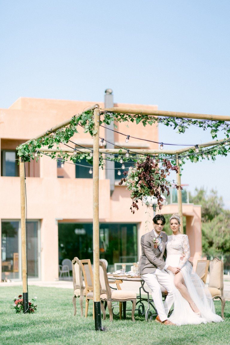 FS Events Styled Shoot - Construction of pergola with fairy lights by Karamalegos Bros Innovative Event Solutions