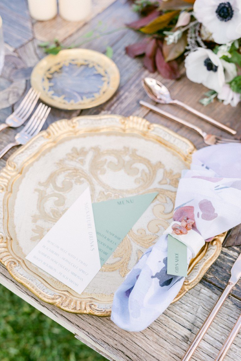 FS Events Styled Shoot - Menu by Just Invite and Napkin Holder by Maria Gavala Artist