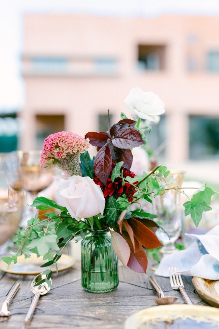FS Events Styled Shoot - Wedding Flowers for Table Decoration by Moustakis Flower COmpany