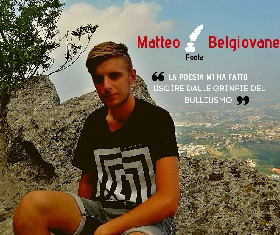 Matteo Belgiovane ha detto no al bullismo, grazie alla poesia
