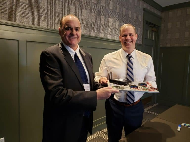 Solstar Space Company CEO M. Brian Barnett with NASA Administrator Jim Bridenstine