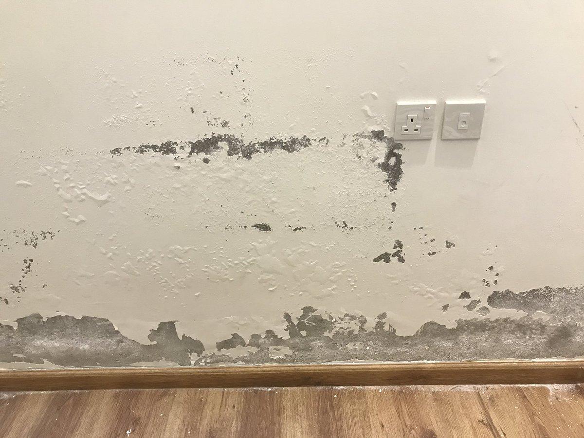 اضرار تسريب المياه على جدران منزلك