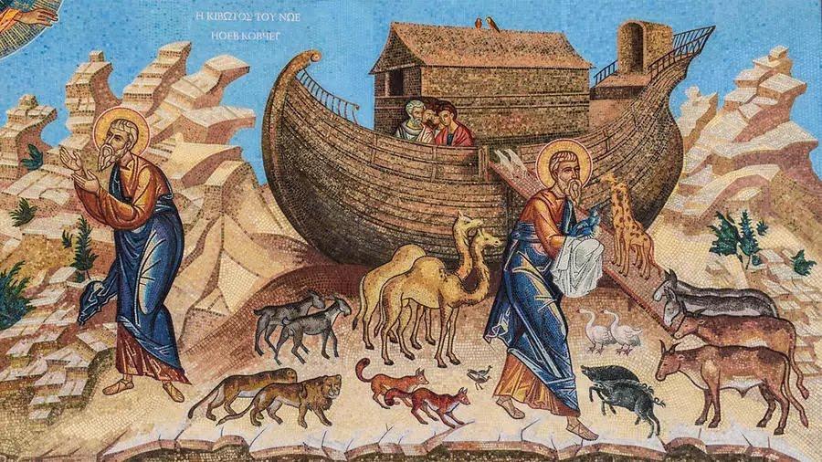 لوحة تصور قصة سفينة نوح الشهيرة في الروايات الإبراهيمية