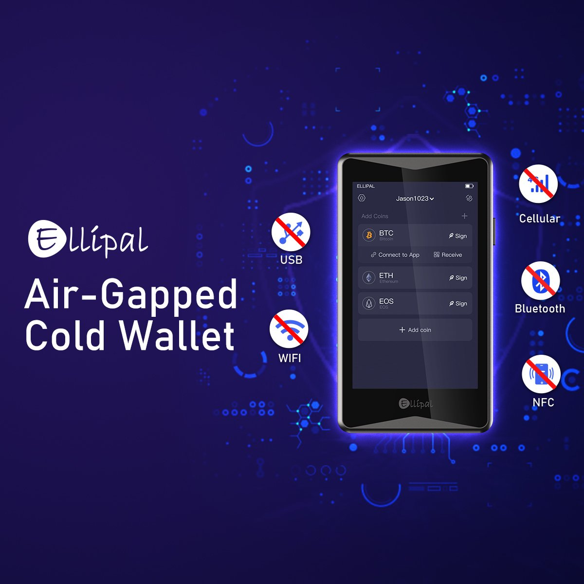 Ellipal - Air-Gapped Cold Wallet