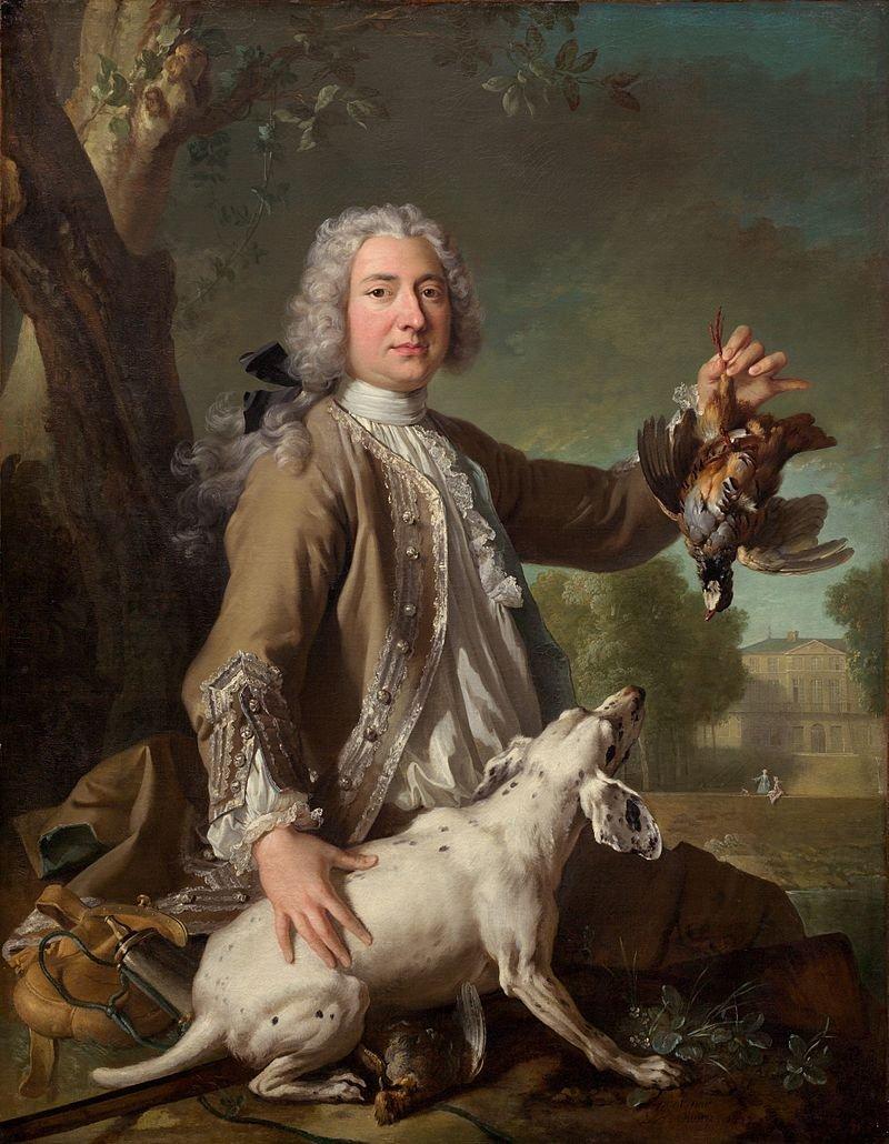 Ill. Jean-Baptiste Oudry, huile sur toile, portrait de Henri-Camille de Beringhen, National Art Gallery, Washington DC