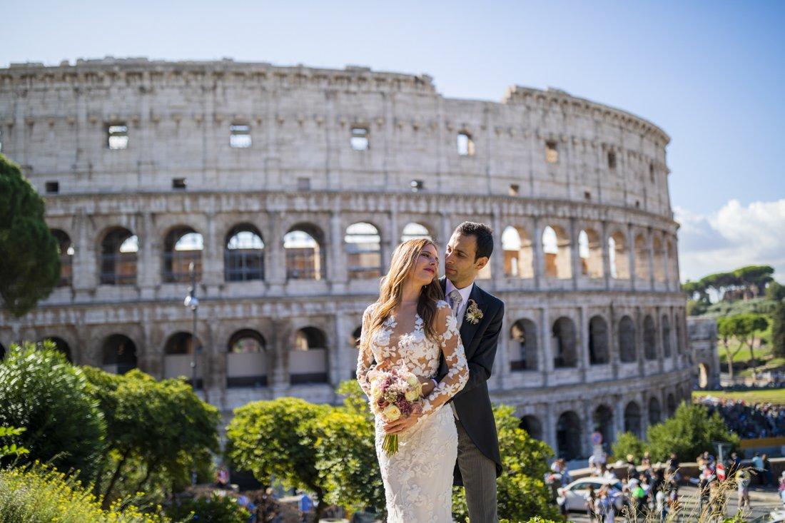 Rome wedding Colosseum