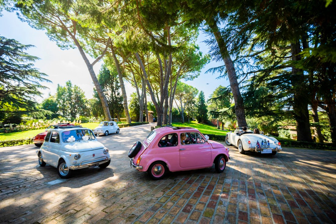 fiat 500 rome wedding