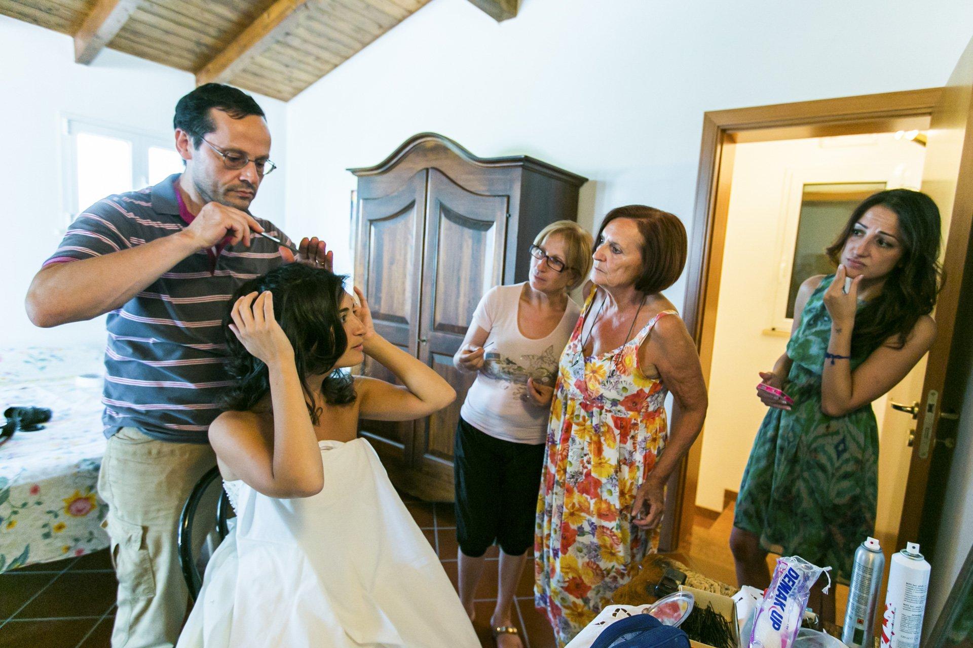 getting ready, rome wedding
