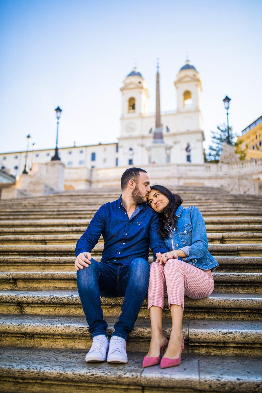 romantic photo spanish steps