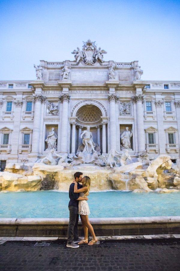 Trevi Fountain surprise proposal