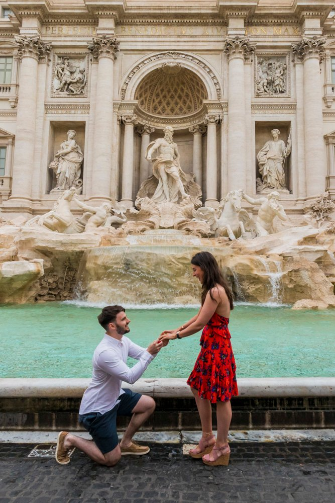 Surprise proposal at the Colosseum