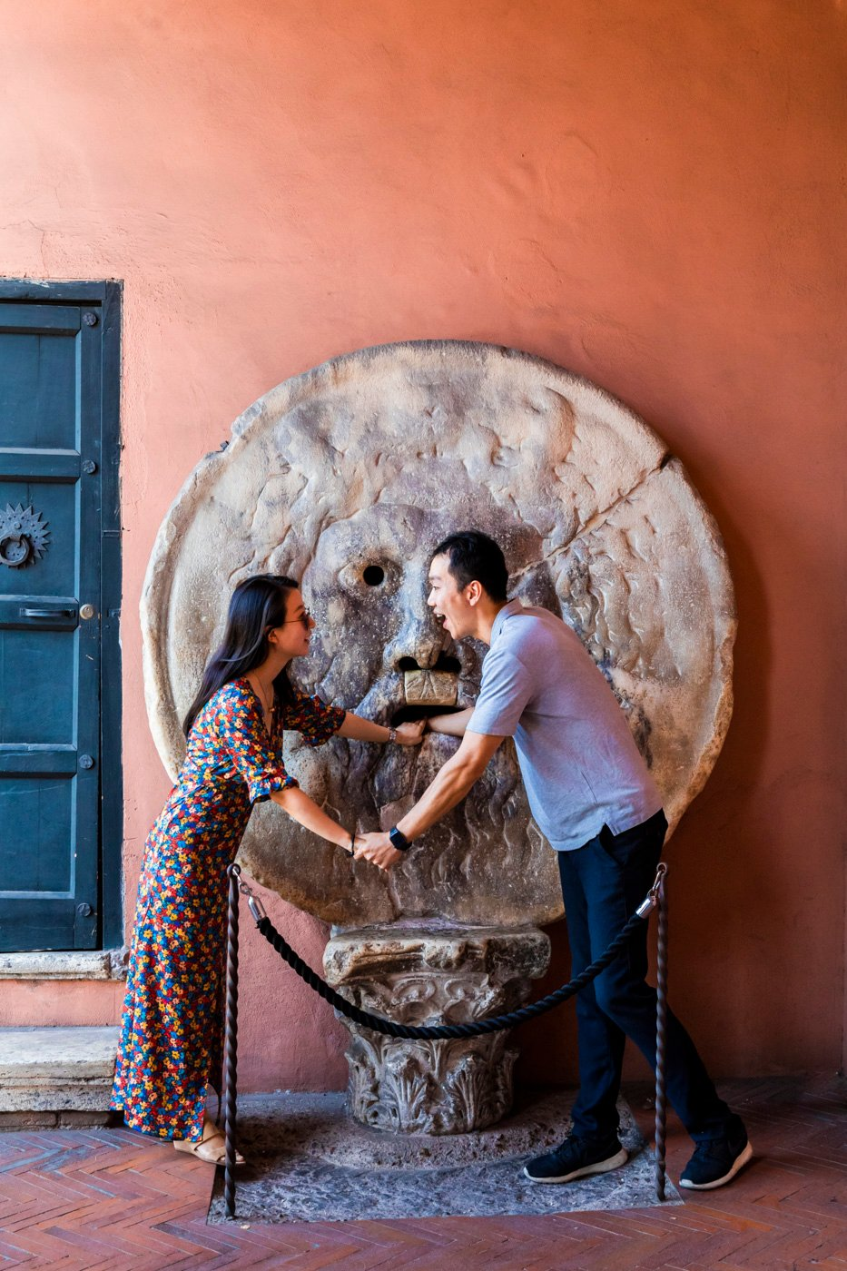 mouth trouth surprise proposal rome