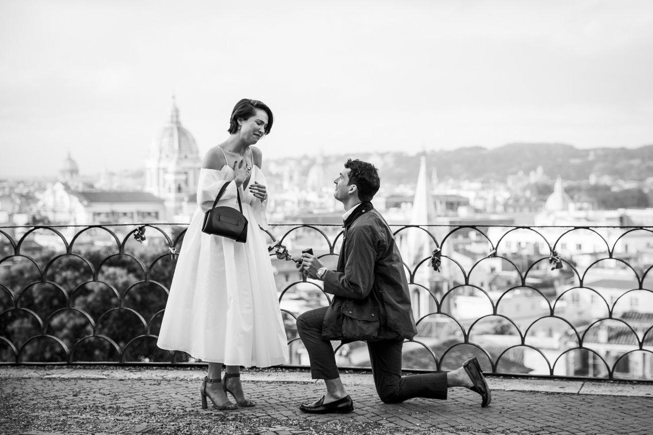 surprise proposal at Pincio