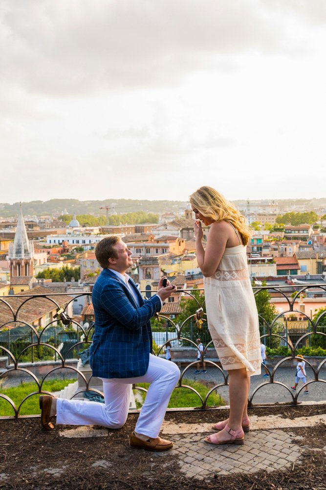 the most iconic proposal in rome