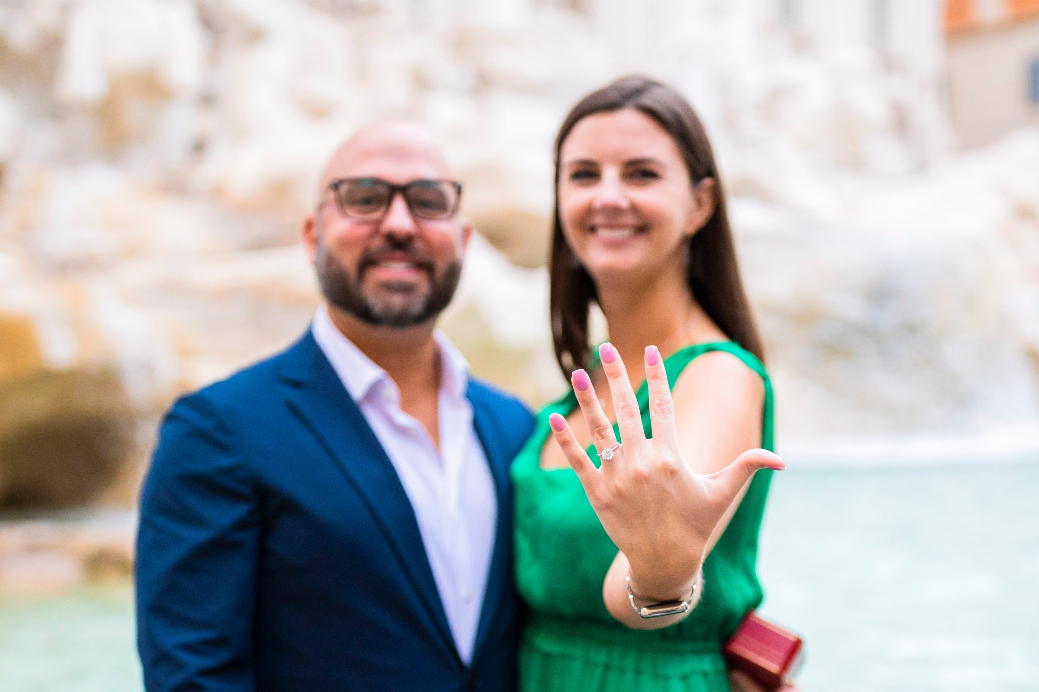 cartier ring rome surprise proposal