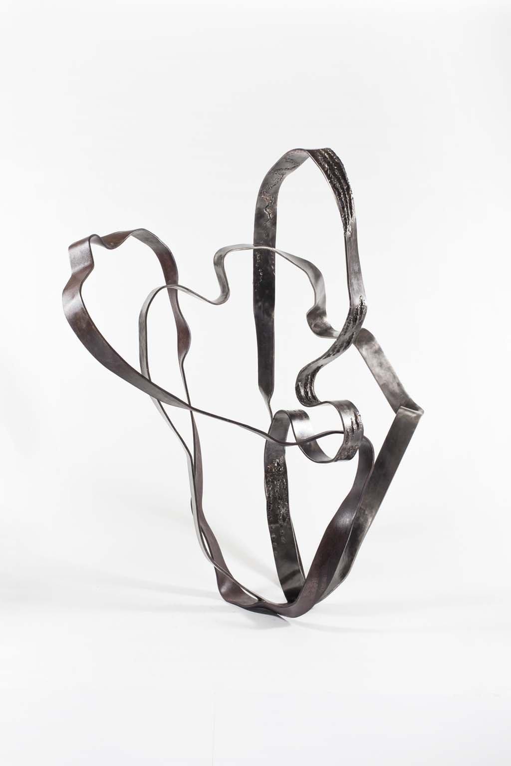 'Oblivion IV' | Iron and brass sculpture | Artist: Rami Ater