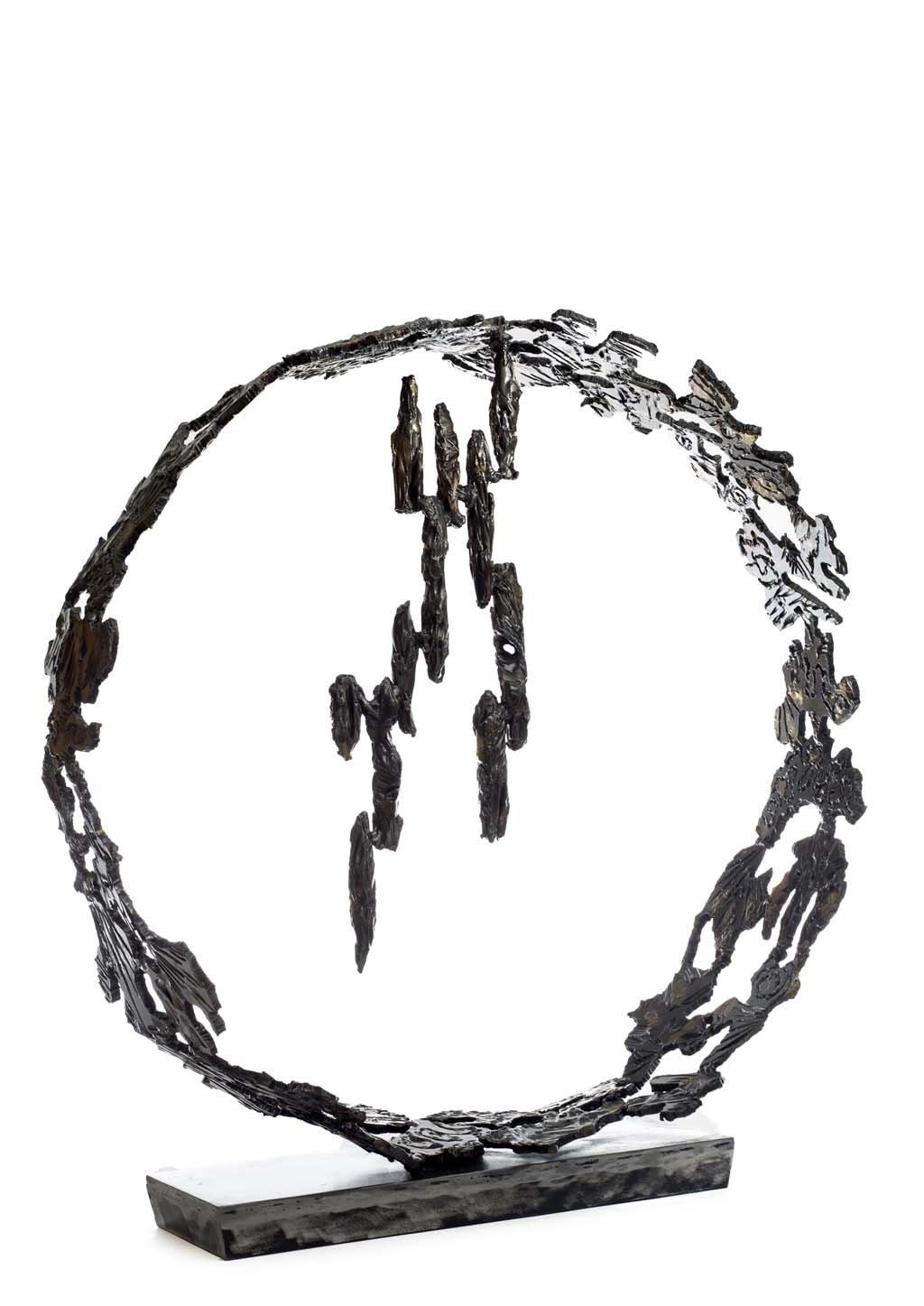 Insights VI | 2014 | Iron & brass sculpture of the Israeli artist, sculptor Rami Ater