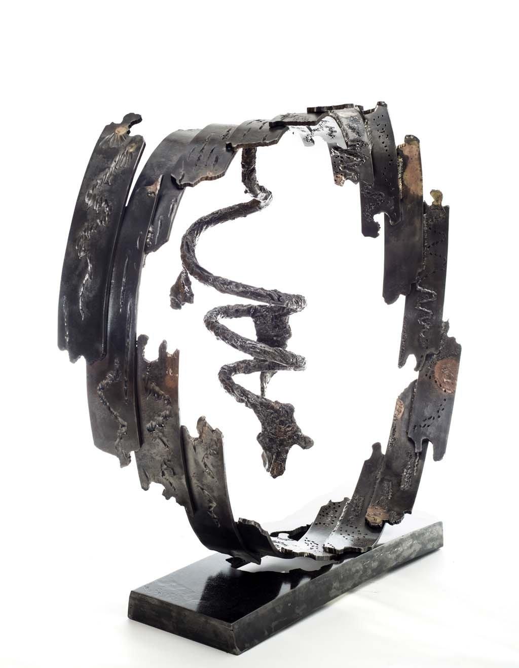 Insights VII | 2014 | Iron & brass sculpture of the Israeli artist, sculptor Rami Ater