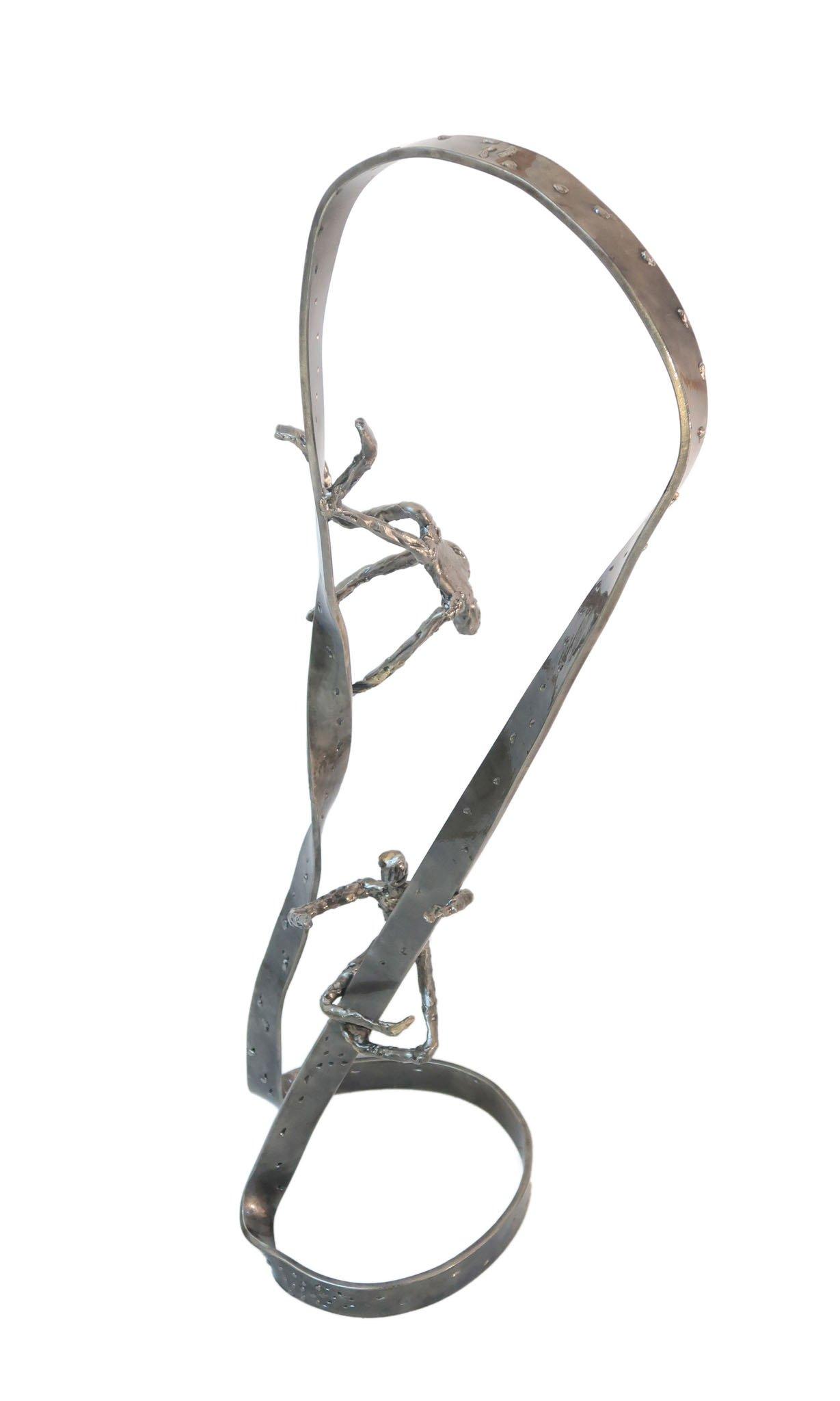 'In my head I'   2018   Iron & brass sculpture of the Israeli artist, sculptor Rami Ater