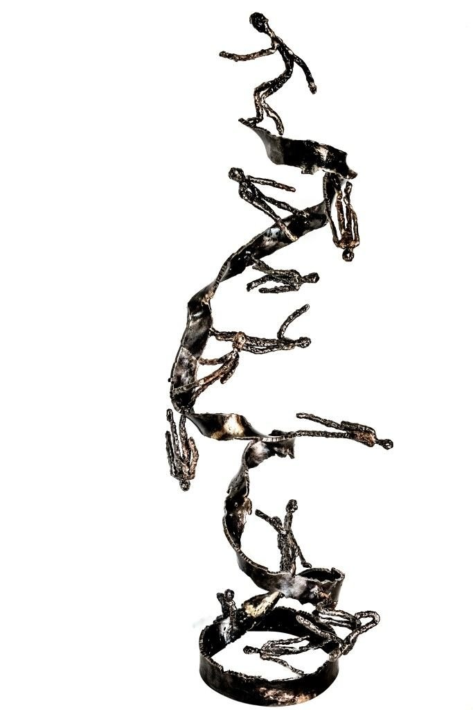 'In my head VII [The way to IV]'   2016   Iron & brass sculpture of the Israeli artist, sculptor Rami Ater