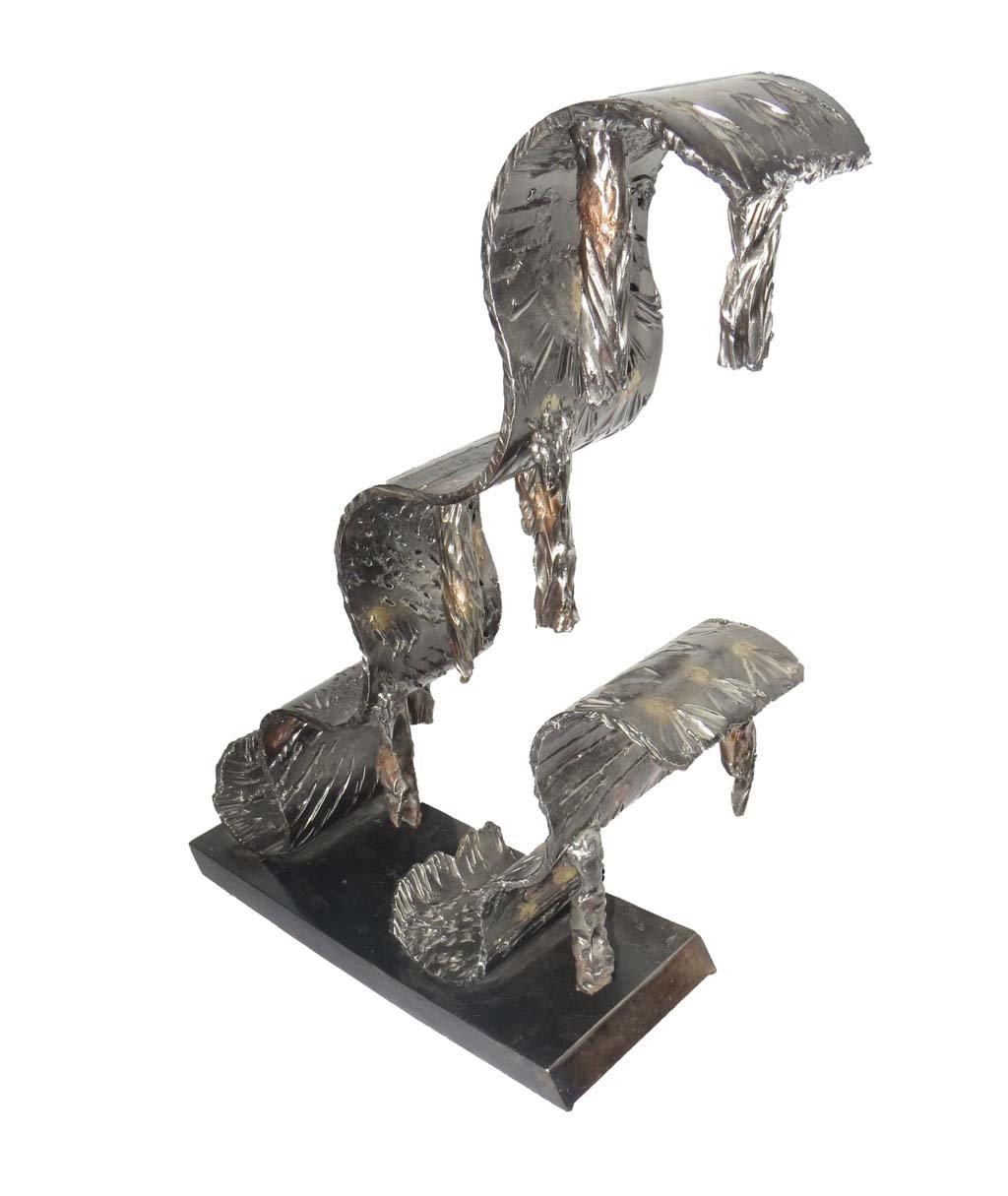 Life IV | 2013 | Iron & brass sculpture of the Israeli artist, sculptor Rami Ater