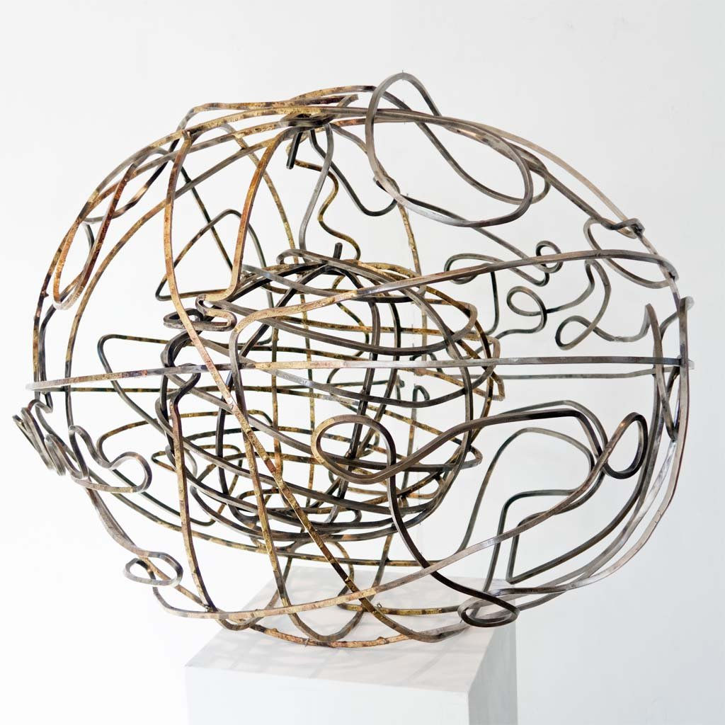 'Edge of Chaos III' | 2020 | Iron & brass sculpture | 75x90x75 cm | Rami Ater