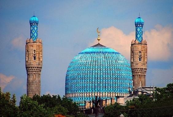 Mosque in St Petersburg Russia