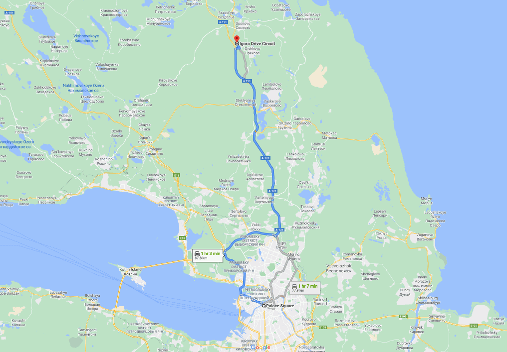 how to get to igora drive from st petersburg