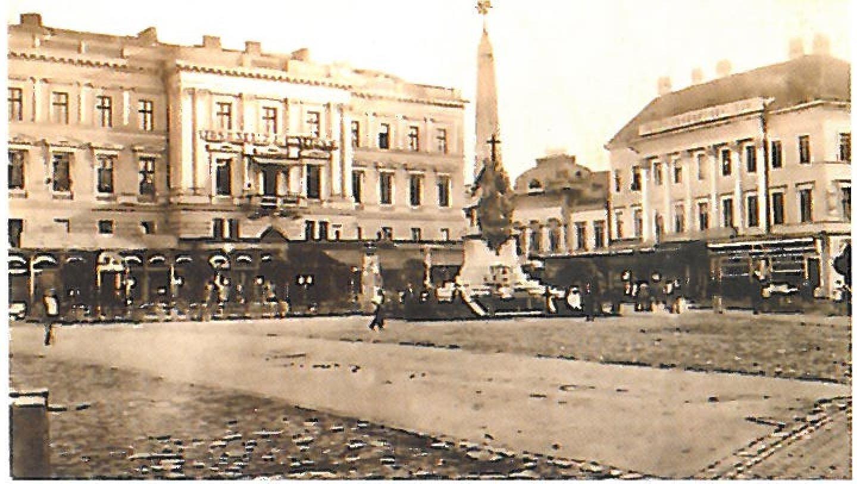 Szentharomsag szobor Arad 1900