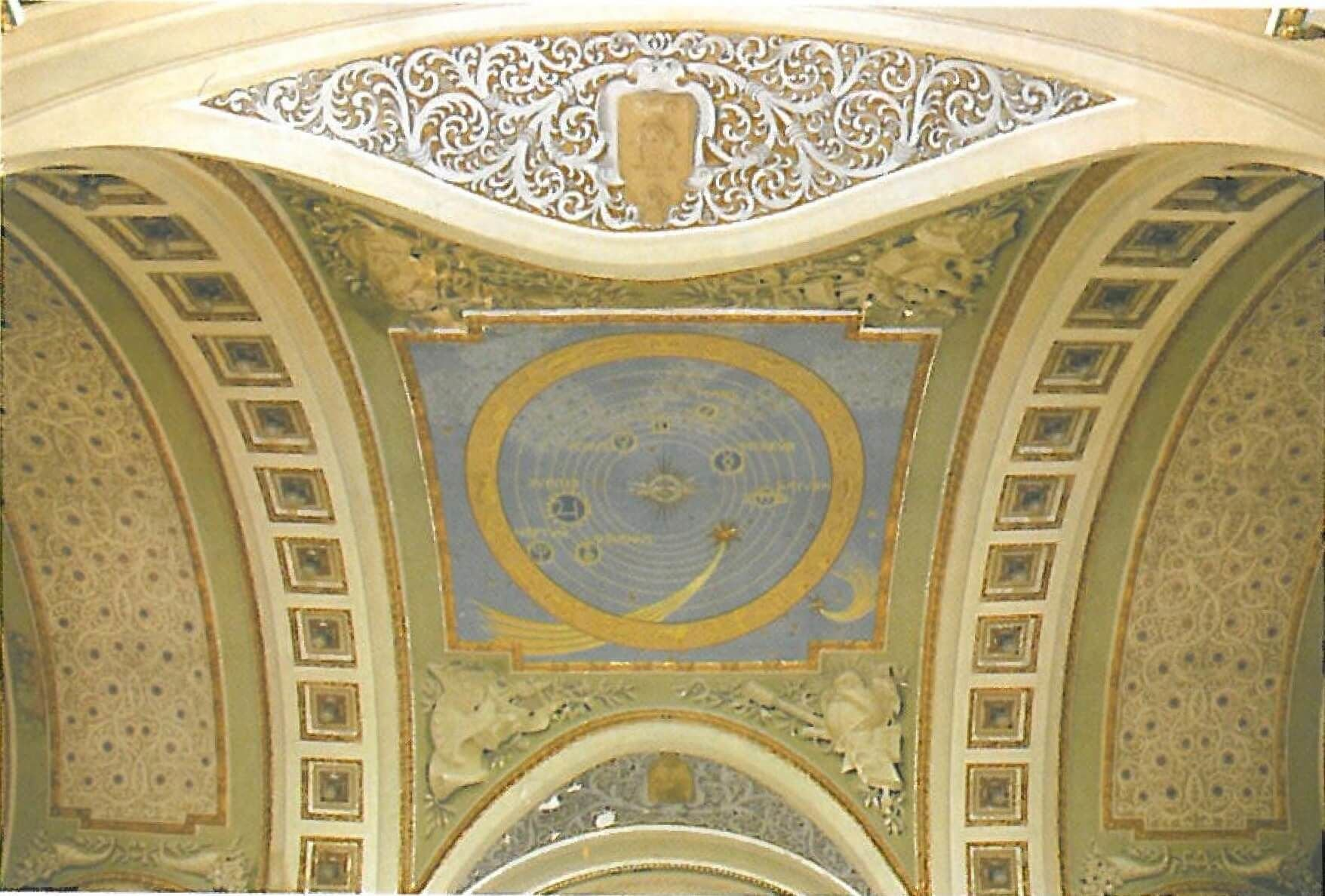 cometa Halley Plafon Palatul Cultural Arad