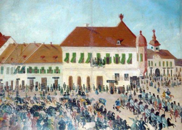 Primaria-Aradului-la-1848-tablou