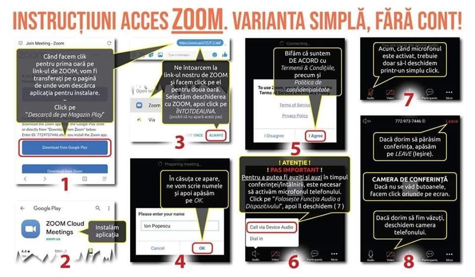 instructiuni accesare fara cont zoom