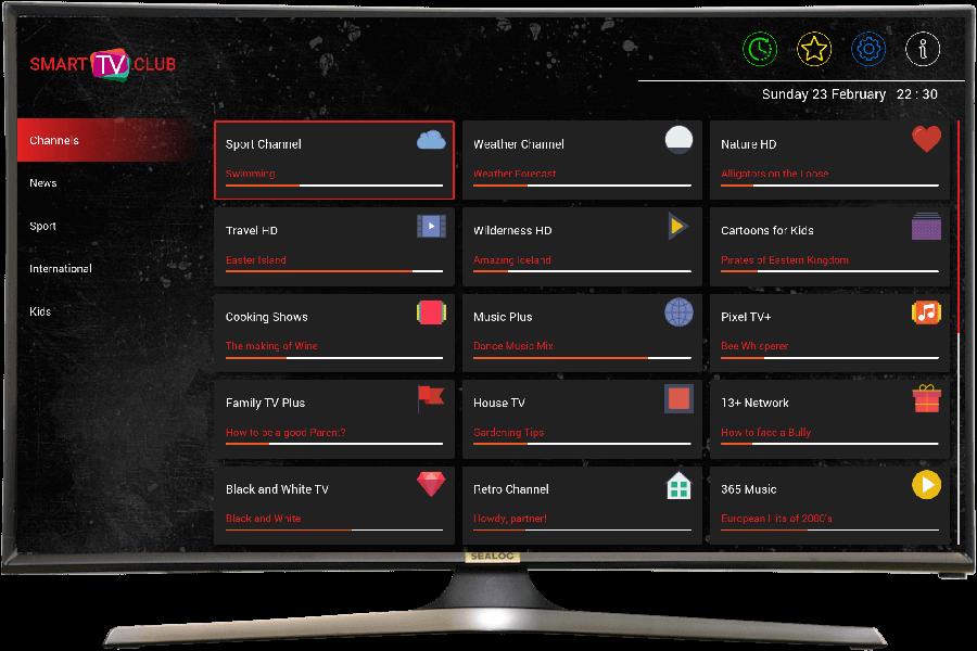 IPTV pour Samsung et LG, application Smartv club pour smart tv