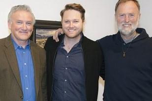 Three admirers of Fred Rogers, Tim, Luke and Bob