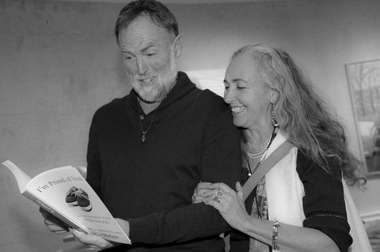 Bob and wife, Wanda, with a certain book.
